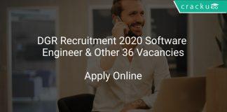DGR Recruitment 2020 Software Engineer & Other 36 Vacancies