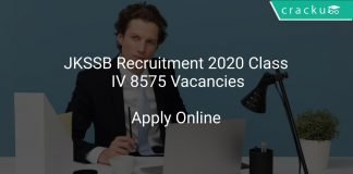JKSSB Recruitment 2020 Class IV 8575 Vacancies