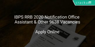 IBPS RRB 2020 Notification Office Assistant & Other 9638 Vacancies