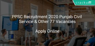 PPSC Recruitment 2020 Punjab Civil Service & Other 77 Vacancies