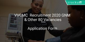 VVCMC Recruitment 2020 GNM & Other 80 Vacancies