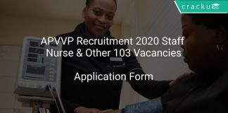 APVVP Recruitment 2020 Staff Nurse & Other 103 Vacancies