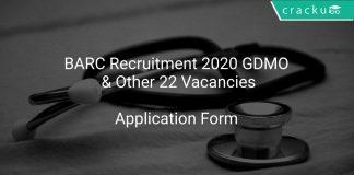 BARC Recruitment 2020 GDMO & Other 22 Vacancies