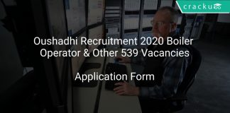 Oushadhi Recruitment 2020 Boiler Operator & Other 539 Vacancies
