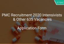 PMC Recruitment 2020 Intensivists & Other 635 Vacancies