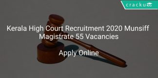 Kerala High Court Recruitment 2020 Munsiff Magistrate 55 Vacancies