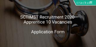 SCTIMST Recruitment 2020 Apprentice 10 Vacancies