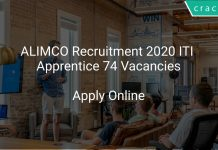 ALIMCO Recruitment 2020 ITI Apprentice 74 Vacancies