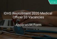 IDHS Recruitment 2020 Medical Officer 33 Vacancies