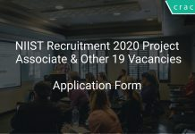 NIIST Recruitment 2020 Project Associate & Other 19 Vacancies