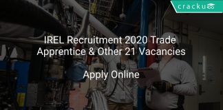 IREL Recruitment 2020 Trade Apprentice & Other 21 Vacancies