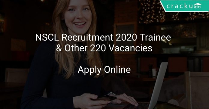 NSCL Recruitment 2020 Trainee & Other 220 Vacancies
