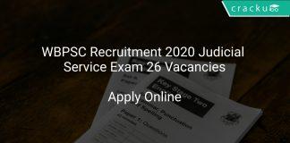 WBPSC Recruitment 2020 Judicial Service Exam 26 Vacancies