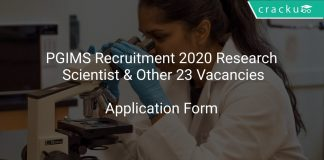 PGIMS Recruitment 2020 Research Scientist & Other 23 Vacancies