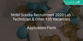 NHM Gondia Recruitment 2020 Lab Technician & Other 135 Vacancies