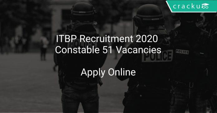 ITBP Recruitment 2020 Constable 51 Vacancies