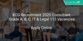 KCG Recruitment 2020 Consultant Grade A, B, C, IT & Legal 113 Vacancies