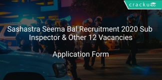 Sashastra Seema Bal Recruitment 2020 Sub Inspector & Other 12 Vacancies