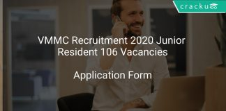 VMMC Recruitment 2020 Junior Resident 106 Vacancies