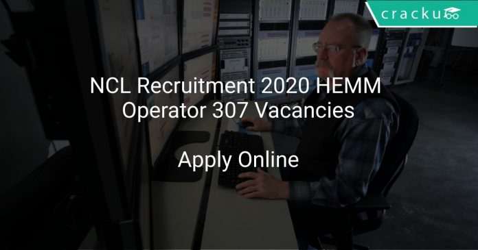 NCL Recruitment 2020 HEMM Operator 307 Vacancies