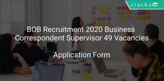 BOB Recruitment 2020 Business Correspondent Supervisor 49 Vacancies