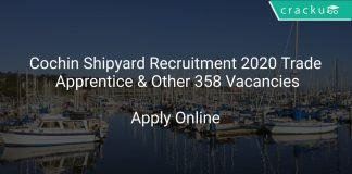 Cochin Shipyard Recruitment 2020 Trade Apprentice & Other 358 Vacancies