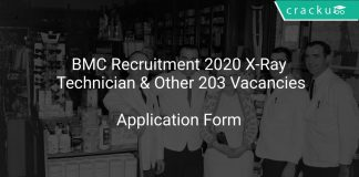 BMC Recruitment 2020 X-Ray Technician & Other 203 Vacancies