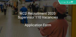 WCD Recruitment 2020 Supervisor 110 Vacancies