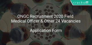 ONGC Recruitment 2020 Field Medical Officer & Other 24 Vacancies