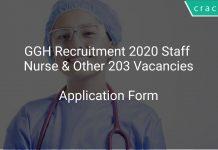GGH Recruitment 2020 Staff Nurse & Other 203 Vacancies
