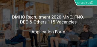 DMHO Recruitment 2020 MNO, FNO, DEO & Others 115 Vacancies