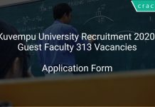 Kuvempu University Recruitment 2020 Guest Faculty 313 Vacancies