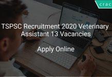 TSPSC Recruitment 2020 Veterinary Assistant 13 Vacancies