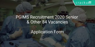 PGIMS Recruitment 2020 Senior & Other 84 Vacancies