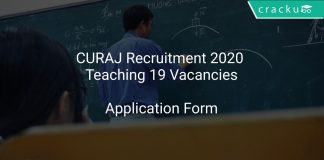 CURAJ Recruitment 2020 Teaching 19 Vacancies