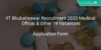 IIT Bhubaneswar Recruitment 2020 Medical Officer & Other 19 Vacancies