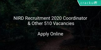 NIRD Recruitment 2020 Coordinator & Other 510 Vacancies
