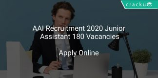 AAI Recruitment 2020 Junior Assistant 180 Vacancies
