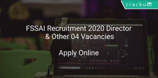 FSSAI Recruitment 2020 Director & Other 04 Vacancies