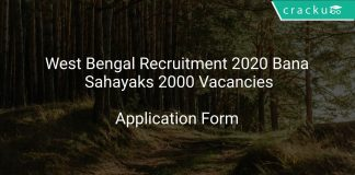 West Bengal Recruitment 2020 Bana Sahayaks 2000 Vacancies