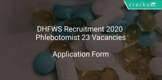 DHFWS Recruitment 2020 Phlebotomist 23 Vacancies