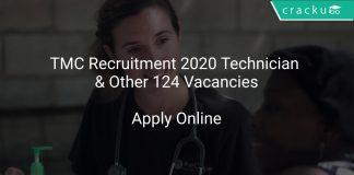 TMC Recruitment 2020 Technician & Other 124 Vacancies