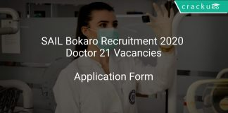 SAIL Bokaro Recruitment 2020 Doctor 21 Vacancies