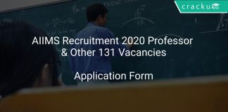 AIIMS Recruitment 2020 Professor & Other 131 Vacancies