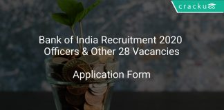 Bank of India Recruitment 2020 Officers & Other 28 Vacancies