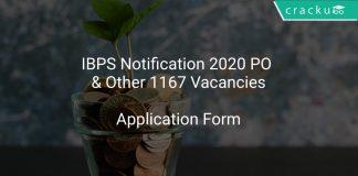IBPS Notification 2020 PO & Other 1167 Vacancies