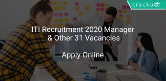 ITI Recruitment 2020 Manager & Other 31 Vacancies