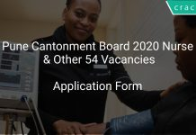 Pune Cantonment Board 2020 Nurse & Other 54 Vacancies