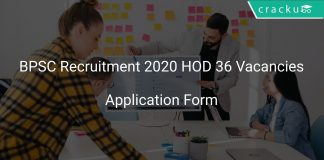 BPSC Recruitment 2020 HOD 36 Vacancies
