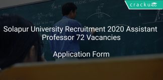 Solapur University Recruitment 2020 Assistant Professor 72 Vacancies